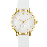 Kate Spade New York - Metro Goldtone Stainless Steel & Leather Strap Watch - Saks Fifth Avenue Mobile