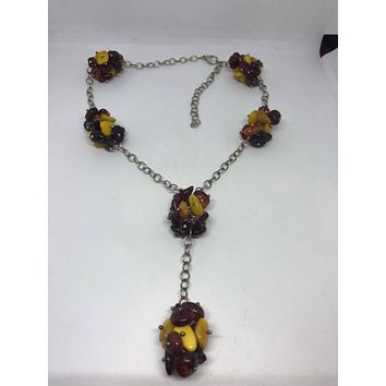 Large genuine Baltic Amber beaded necklace