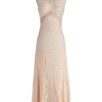 ModCloth Pastel Long Sleeveless Maxi Candlelit Soiree Dress