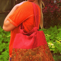 Tote- Purse- High Quality Upholstery Hand Bag Drawstring