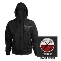 Roger Waters Official Store   Roger Waters The Wall Live 2013 Hammers Black Zip Hoodie