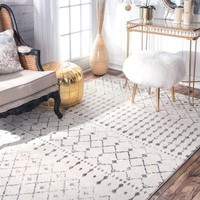 nuLOOM Geometric Moroccan Trellis Fancy Grey Area Rug (8' x 10') - 17461389 - Overstock - Great Deals on Nuloom 7x9 - 10x14 Rugs - Mobile