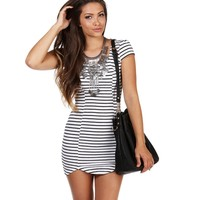 Ivory Missy Striped Midi Dress