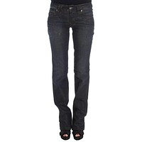 Galliano Blue Wash Cotton Blend Slim Fit Bootcut Jeans