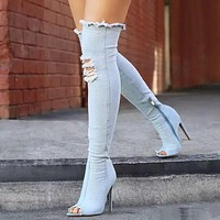 Over The Knee Jean Boots