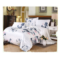 Silk King Queen Double Size Silk Duvet Quilt Cover Sets Bedding Cover Set 2.0M/2.2M Bed 01