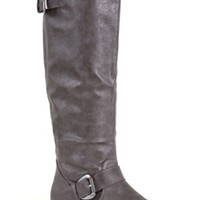 Charles Albert Double Buckle Tall Riding Boots in Grey NEW-11144-GREY
