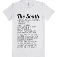The South-Female White T-Shirt