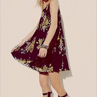 Free People Womens Pleated Tent Dress