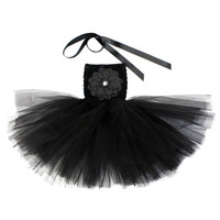 Cute Infant Baby Girls Dress Casual Flower Ball Gown Tutu Dress Solid Clothes 18 Colors PE3