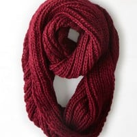 AEO Women's Loop Scarf (Summer Burgundy)