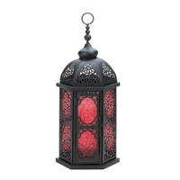 Tall Moroccan Style Candle Lantern