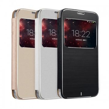 Brushed Metal Flip Case - Samsung Galaxy S5