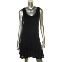 Marc by Marc Jacobs Womens Eyelet Contrast Trim Wear to Work Dress