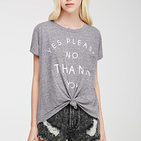 Yes Please Knot-Front Tee