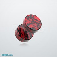 Digital Camouflage Acrylic Fake Plug Earring