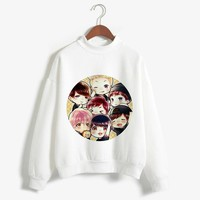 BT21 Fashion Autumn Winter Clothes Women Long Sleeve Top Kawaii BTS White Feminino Sweatshirt Harajuku Pullover 2018 Clothing