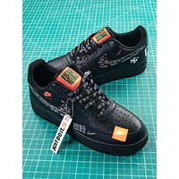 Nike Air Force 1 Low Af1 Just Do It Black   Ar7719-100 Sport Shoes