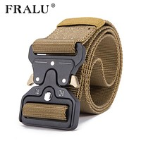 Mens Tactical Belt Military Nylon Belt Outdoor multifunctional Training Belt High Quality Strap