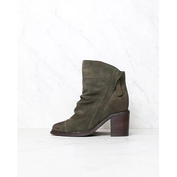 Sbicca - Millie Women's Suede Leather Booties in Green
