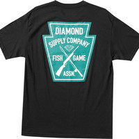 Diamond Fish & Game Crest Tee XL Black