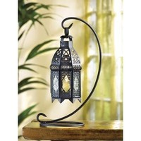 Moroccan Hanging Candle Lantern And Tabletop Stand