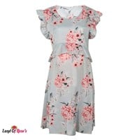 Floral Maternity with Ruffles