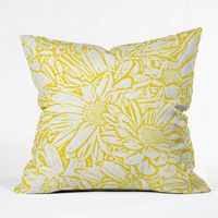 Lisa Argyropoulos Daisy Daisy In Golden Sunshine Outdoor Throw Pillow
