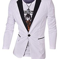 jeansian Men's Fashion Jacket Outerwear Tops Blazer 9164