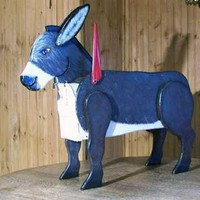 Woodendipity Style Donkey Decorative Novelty Curbside Residential Post Mount Mailbox   Mailbox Works