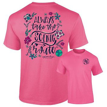 Southernology Ashton Brye Always Take Scenic Route Comfort Colors T-Shirt