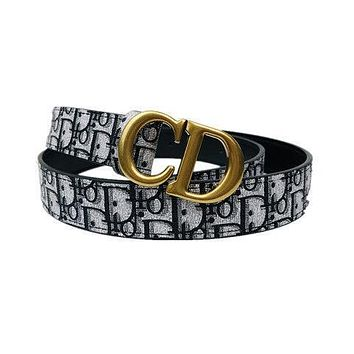 dior womens mens fashion smooth buckle belt leather belt monogram leather belt