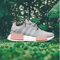 """""""Adidas"""" NMD Women Fashion Trending Running Sports Shoes Sneakers Grey-pink"""