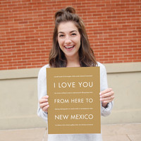 NEW MEXICO State Wall Art | Gift Idea | HopSkipJumpPaper