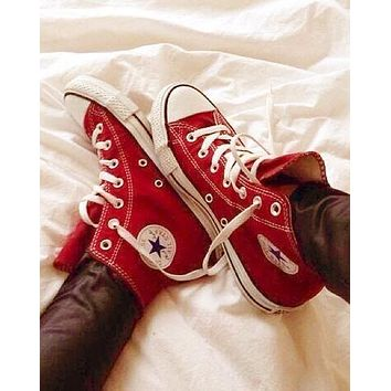 Converse Fashion Canvas Flats Sneakers Sport Shoes-1