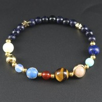 Universe Galaxy The Eight Planets Bracelets In The Solar System Guardian Star Natural Stones Beaded Bracelets & Bangles Unisex