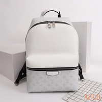 HCXX 19Aug 655 Louis Vuitton LV M33450 Apollo Taiga Leather Fashion Print Backpack 40-37-20cm