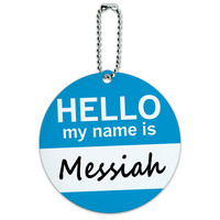 Messiah Hello My Name Is Round ID Card Luggage Tag