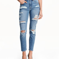 Slim High Ankle Trashed Jeans - from H&M