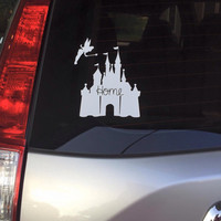 Disney Castle Decal | Walt Disney World | Castle Decal | Vinyl Decal |  Car Decal | Monogrammed Decal | Magic Kingdom Decal | Disney Lover