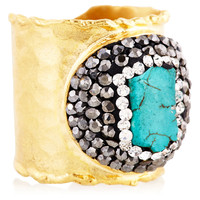 Turquoise/Gold Ring, Stone & Novelty Rings
