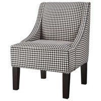Hudson Swoop Chair - Black & White Houndstooth