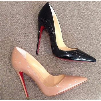 pumps high heels pointed toe women shoes Red bottom sole