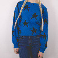 Vintage Blue Stars Sweater