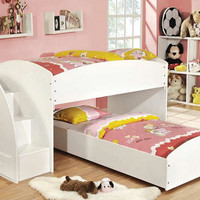 Petrie Twin L Shape Low Stairway Loft Bed