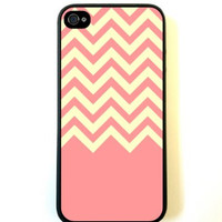 Coral Yellow Chevron iPhone 5 Case - For iPhone 5/5G - Designer TPU Case Verizon AT&T Sprint