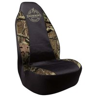 Browning Mossy Oak Camo Spandex Seat Cover 2pk