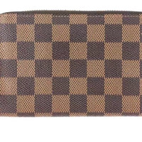 Louis Vuitton Damier Zippy Compact Wallet N60028 Authentic Free Shipping Japan