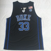 Duke University Blue Devils # 33 Grant Hill Basketball Jerseys Black