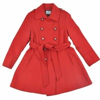 Rothschild Big Girls Double Breasted Wool Look Dress Coat